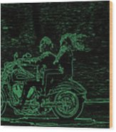 Feeling The Ride Wood Print