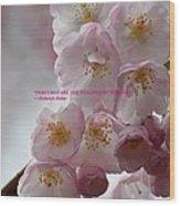 Feelings Of Flowers Wood Print