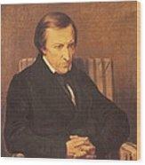 Felicite Robert De Lamennais, 1845 Oil On Canvas Wood Print