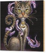 Feline Fantasy Wood Print