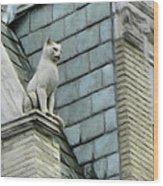 Feline Sentry Wood Print