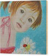Felisa Little Angel Of Happiness And Luck Wood Print