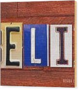Felix License Plate Name Sign Fun Kid Room Decor Wood Print