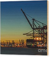 Felixstowe Docks Wood Print by Svetlana Sewell