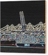 Felixstowe Glow 004 Wood Print