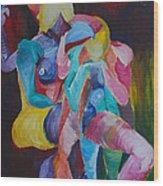 Female Art Wood Print