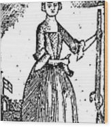 Female Continental Soldier Wood Print