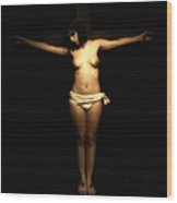 Female Crucifix I Wood Print