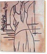 Female Enamel On Copper Wood Print