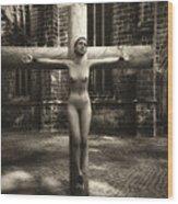 Female Martyr Wood Print