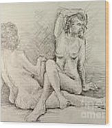Female Nudes Wood Print