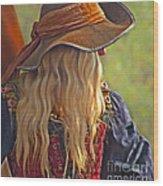 Female Pirate Wood Print