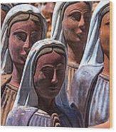 Female Statues Wood Print
