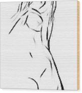 Female Wood Print