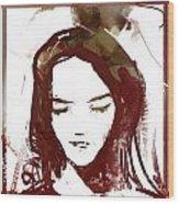 Female Textured Sketch Number 1 Wood Print