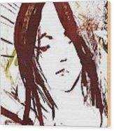 Female Textured Sketch Number 2 Wood Print