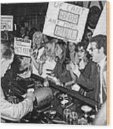 Feminists Protest  Brown's Bar Wood Print