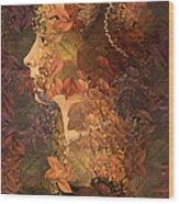 Femme D Automne Wood Print