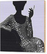 Femme Fatale C1960 Shaken Not Stirred Wood Print