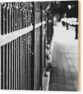 Fence At Eight  Wood Print