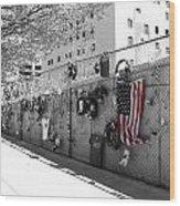 Fence At The Oklahoma City Bombing Memorial Wood Print