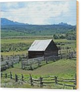 Fence Barn Wood Print