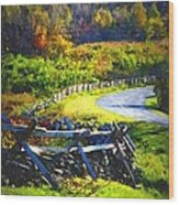 Fenced In Wood Print