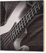 Fender Bass Wood Print