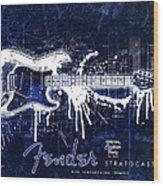 Fender Blueprint Washout Wood Print