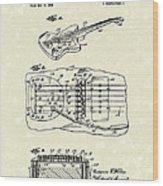 Fender Floating Tremolo 1961 Patent Art Wood Print by Prior Art Design
