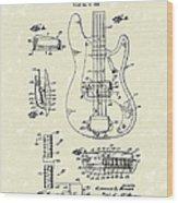 Fender Guitar 1961 Patent Art Wood Print