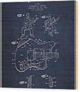 Fender Guitar Patent Drawing From 1960 Wood Print