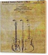 Fender Guitar Patent On Canvas Wood Print