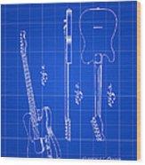 Fender Guitar Patent 1951 - Blue Wood Print