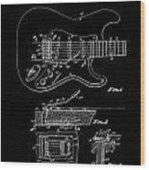 Fender Guitar Tremolo Patent Art 1956 Wood Print