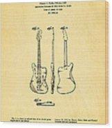 Fender Jazzmaster Guitar Design Patent Art 1959 Wood Print