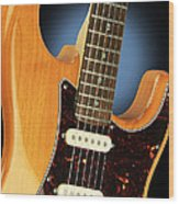 Fender Stratocaster Electric Guitar Natural Wood Print