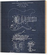 Fender Tremolo Device Patent Drawing From 1956 Wood Print by Aged Pixel