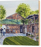 Fenestra Winery Wood Print