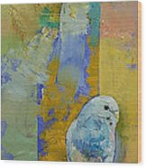 Feng Shui Parakeets Wood Print by Michael Creese