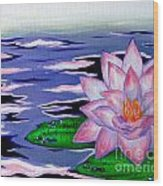 Fengshui Lotus Wood Print