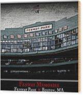 Fenway Memories - Poster 1 Wood Print
