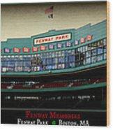 Fenway Memories - Poster 2 Wood Print