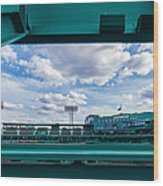 Fenway Park From The Green Monster Wood Print