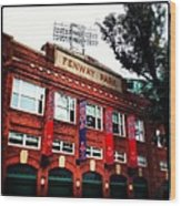 Fenway Park In October 2013 Wood Print