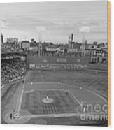 Fenway Park Photo - Black And White Wood Print by Horsch Gallery