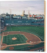 Fenway Park Photo - Inside View Wood Print by Horsch Gallery