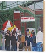 Fenway Park Spring Time Wood Print