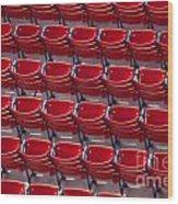 Fenway Seats Wood Print