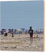 Beach Scene - Fenwick Island Delaware Wood Print